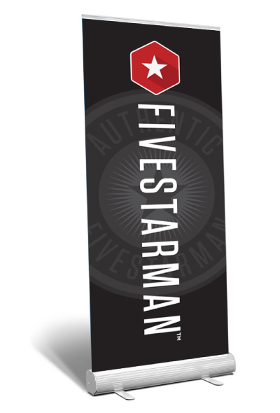 black-banner-stand